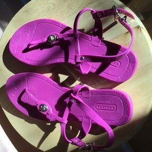 Pier Shiny jelly sandals